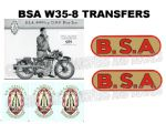 BSA W35-8 Transfers Decals Set DBSA183